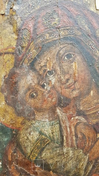 Ікона Божої матері Почаївська. Українське бароко. Підписна., фото №4