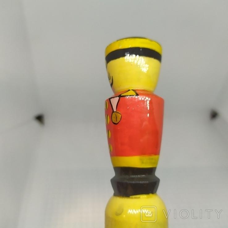Деревянный карандаш. Солдатик. Длина 200мм, диаметр 23мм, фото №4