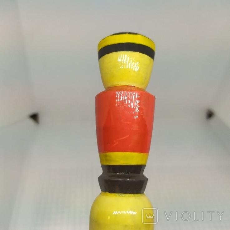 Деревянный карандаш. Солдатик. Длина 200мм, диаметр 23мм, фото №5
