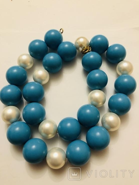 Бусы намисто ожерелье винтаж тяжелые застежка серебро 925, фото №9