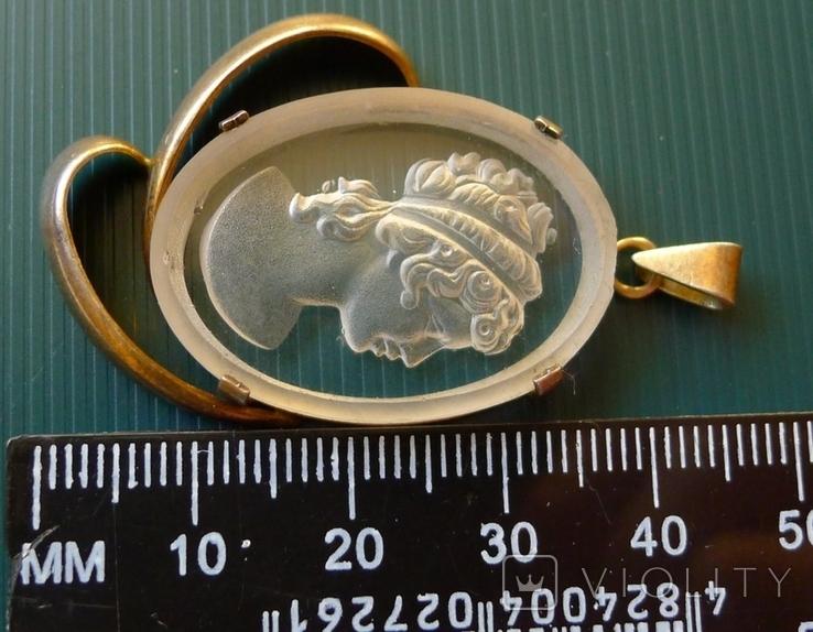 Кулон в серебре с камеей., фото №6