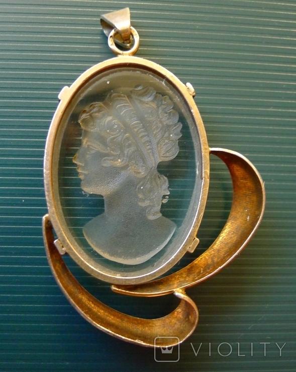 Кулон в серебре с камеей., фото №7