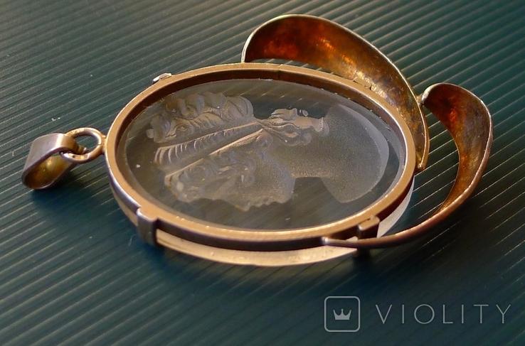 Кулон в серебре с камеей., фото №8