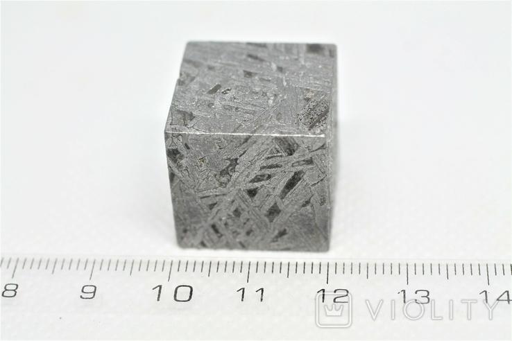Куб із залізного метеорита Aletai, 60,6 грам, із сертифікатом автентичності, фото №4