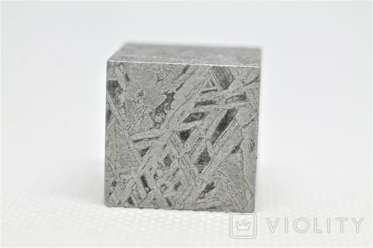 Куб із залізного метеорита Aletai, 60,6 грам, із сертифікатом автентичності, фото №5