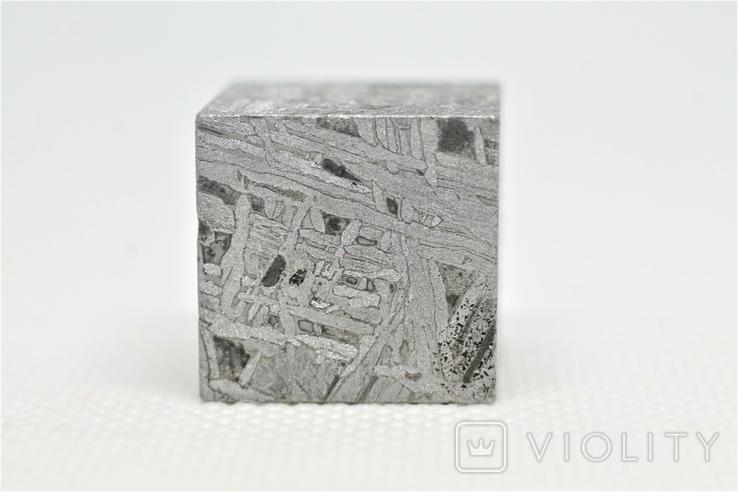 Куб із залізного метеорита Aletai, 60,6 грам, із сертифікатом автентичності, фото №6