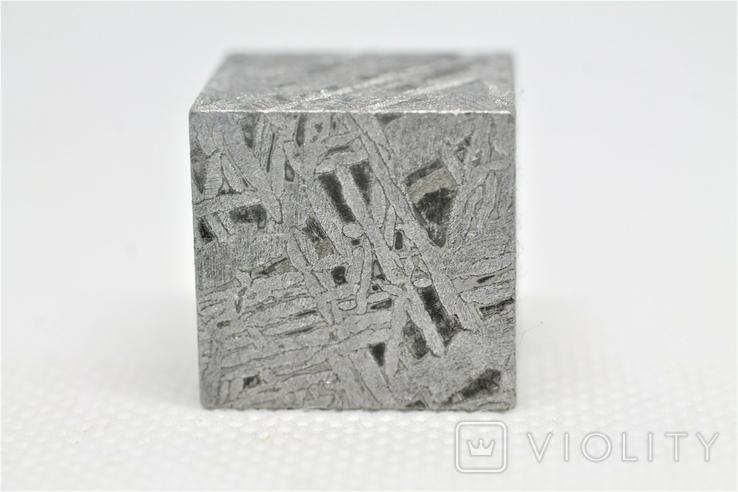 Куб із залізного метеорита Aletai, 60,6 грам, із сертифікатом автентичності, фото №8