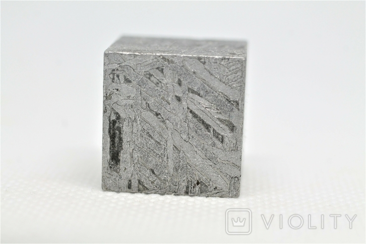 Куб із залізного метеорита Aletai, 60,6 грам, із сертифікатом автентичності, фото №9
