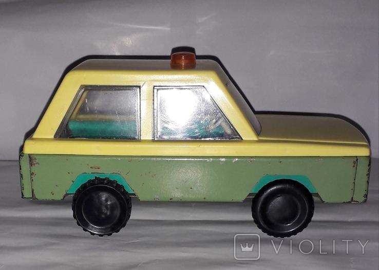 Машинка СССР Милиция с мигалкой ГАИ Гродненский металлообрабатывающий завод ( 18,5 см.), фото №3