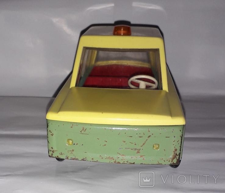 Машинка СССР Милиция с мигалкой ГАИ Гродненский металлообрабатывающий завод ( 18,5 см.), фото №6