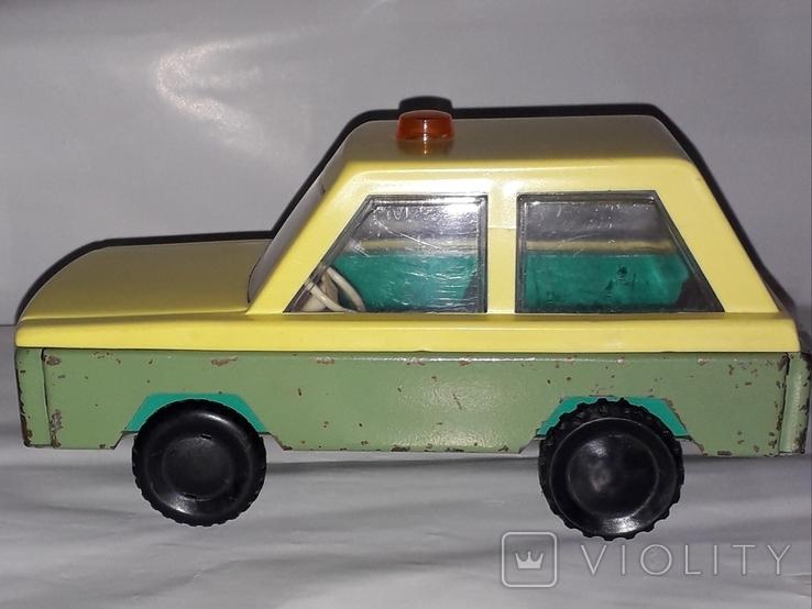 Машинка СССР Милиция с мигалкой ГАИ Гродненский металлообрабатывающий завод ( 18,5 см.), фото №2