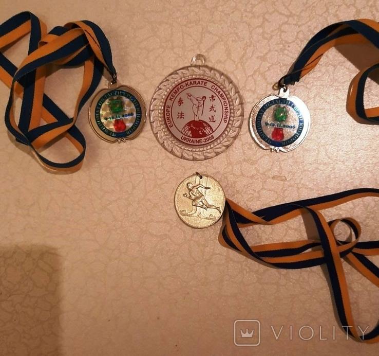 Спортивные медали (4 шт)+бонус (вымпелы), фото №2