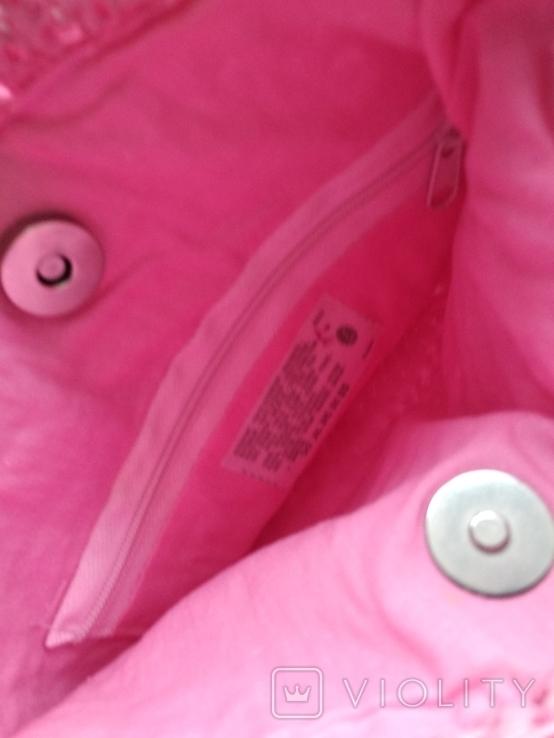 Сумка винтажная макраме, блестки (импорт), фото №5