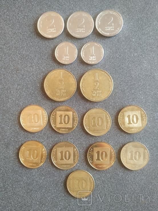 Ізраїль Израиль - 14 монет, фото №2