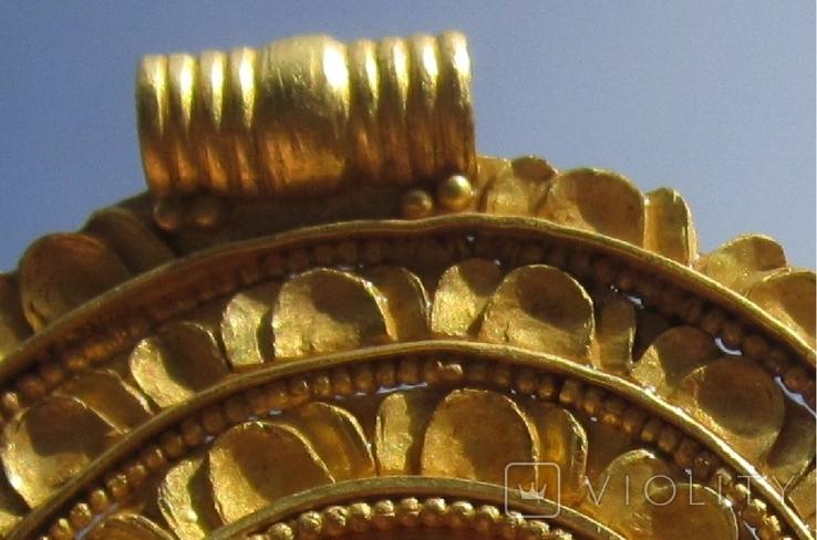 Золотой медальон с изображением августы Галла Плацидия. Копия., фото №4