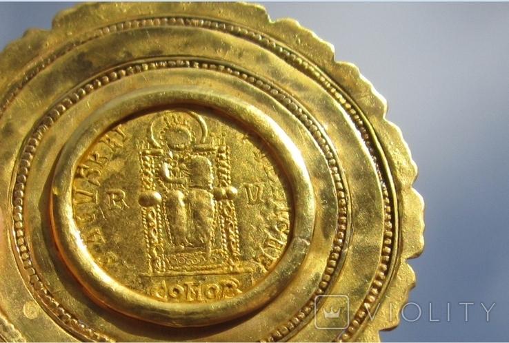 Золотой медальон с изображением августы Галла Плацидия. Копия., фото №12