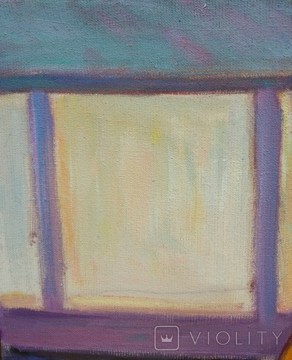 """В.Кнышевский """"Гимнастка"""", х.м.53*38см, 1980г, фото №7"""