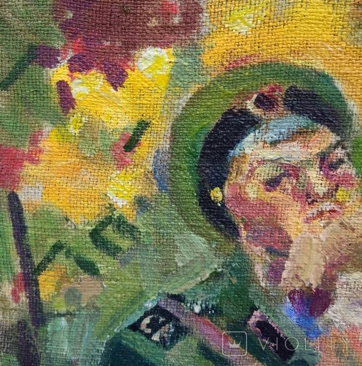 """В.Кнышевский """"Свидание"""", х.м.40*40см, 1980г, фото №7"""