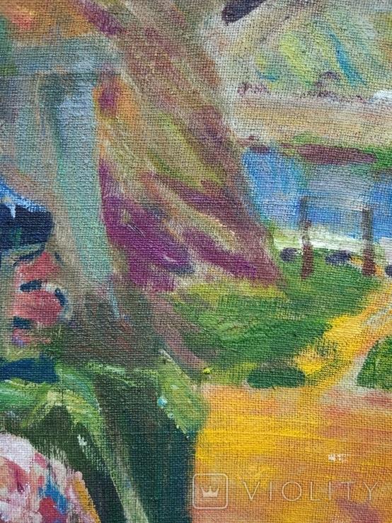 """В.Кнышевский """"Свидание"""", х.м.40*40см, 1980г, фото №9"""