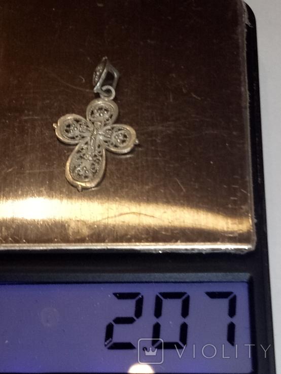 Ажурный серебряный крестик, фото №5