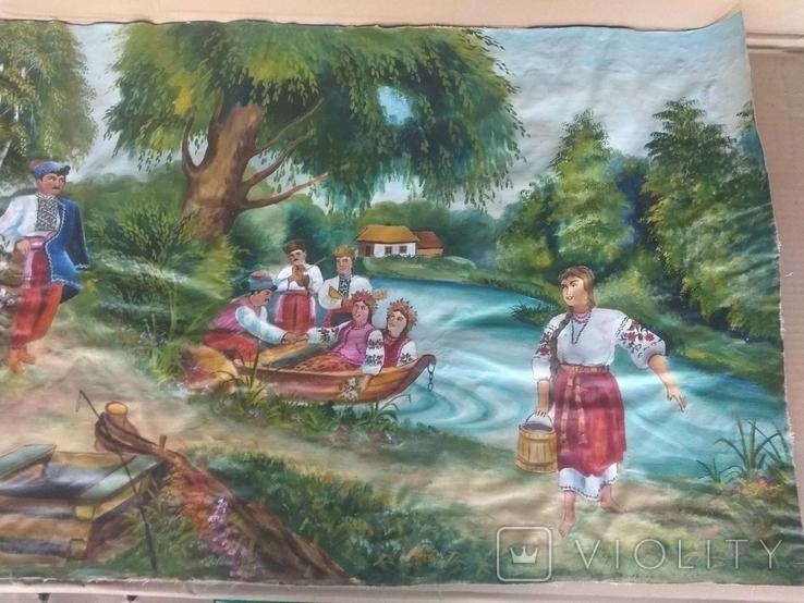 Картина 104 х 56, масло., фото №3