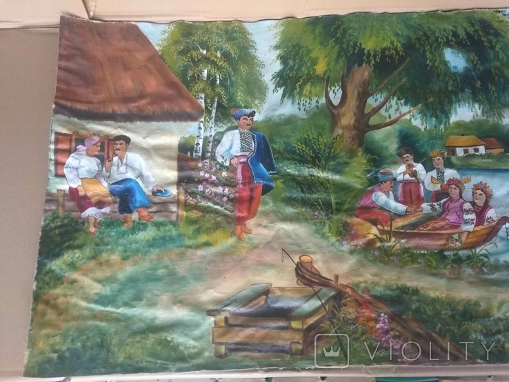 Картина 104 х 56, масло., фото №4