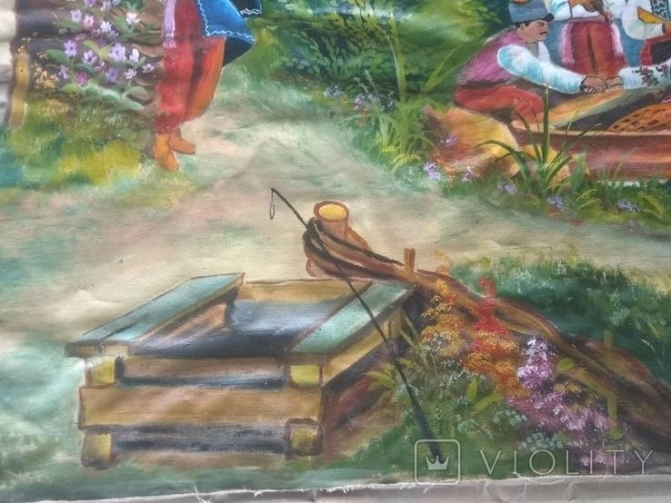 Картина 104 х 56, масло., фото №6