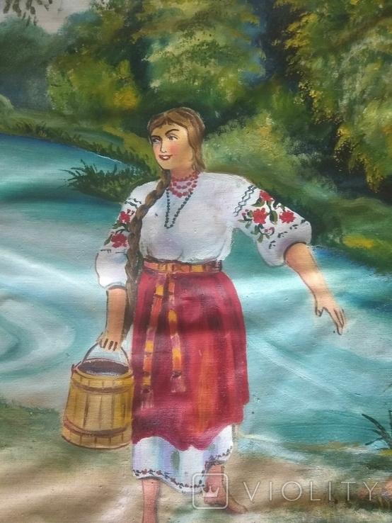 Картина 104 х 56, масло., фото №8