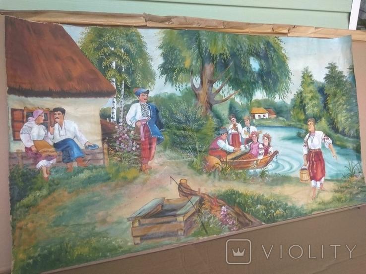 Картина 104 х 56, масло., фото №10