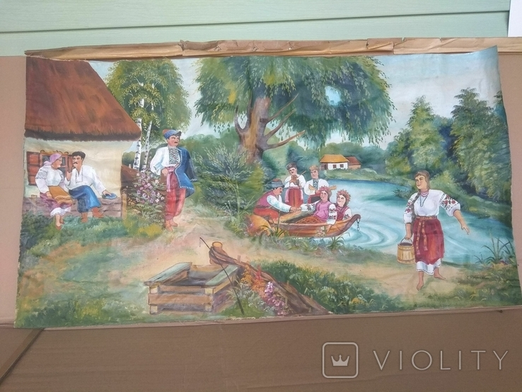 Картина 104 х 56, масло., фото №11
