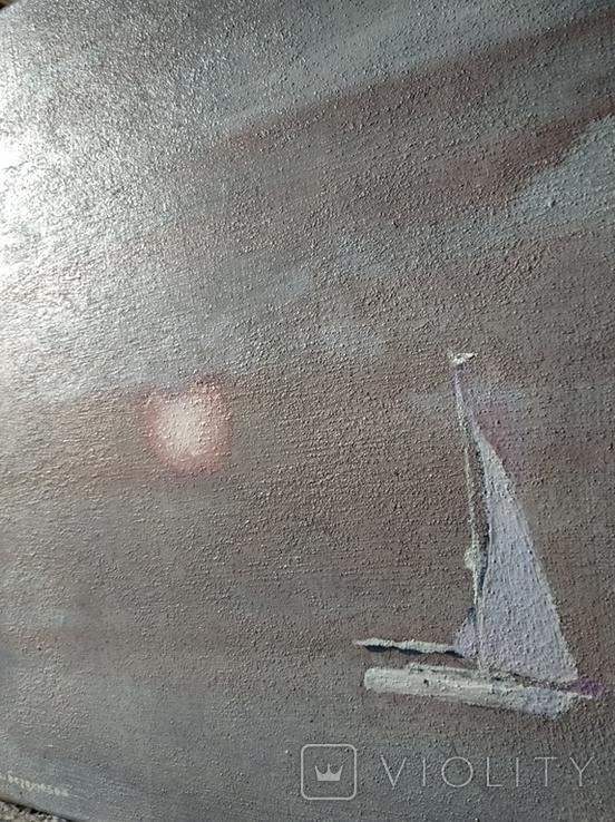 """Яхта""  х./акр. 53х47 см., 2000г., С.Боголюбов., фото №7"