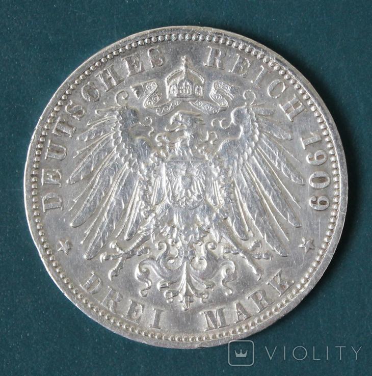 3 марки 1909 (Вильгельм 2), фото №3