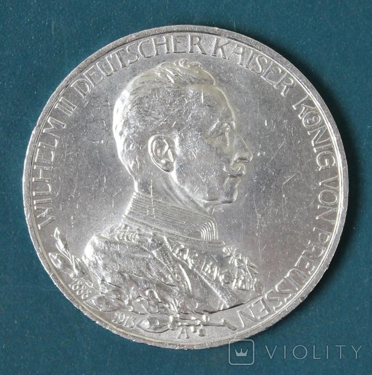 3 марки 1913 (Вильгельм 2,мундир), фото №2