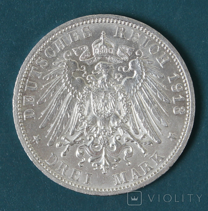 3 марки 1913 (Вильгельм 2,мундир), фото №3