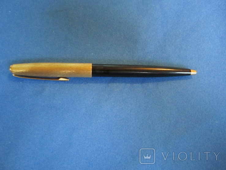 Ручка шариковая производства СССР с позолотой., фото №2