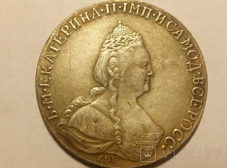 Копия 1 рубль 1783 год В81, фото №3