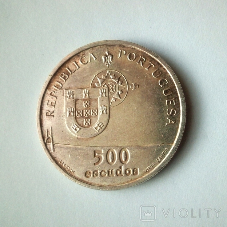 Португалия 500 эскудо 1998 г. - Мост Васко да Гамы, фото №5