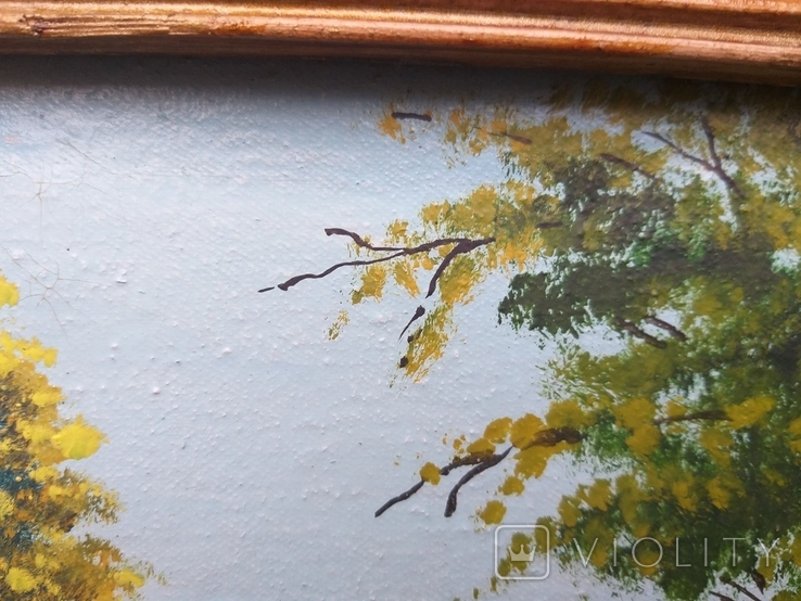 Старая картина масло холст, фото №4