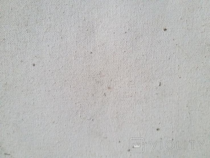 Старая картина масло холст, фото №6