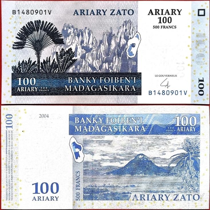 Мадагаскар Madagascar - 100 аріарі ariary ариари - 2004 - P86 - UNC