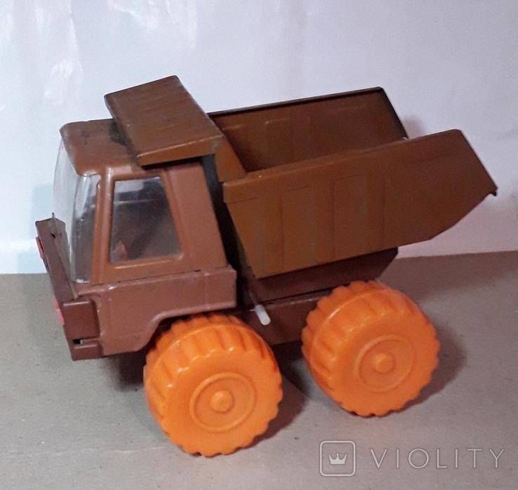 Железная машинка Самосвал СССР длина 20 см., фото №8