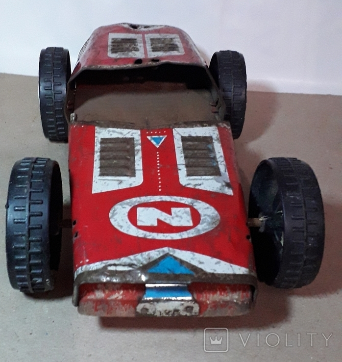 Большая гоночная машина СССР длина 24 см., на реставрацию, фото №5