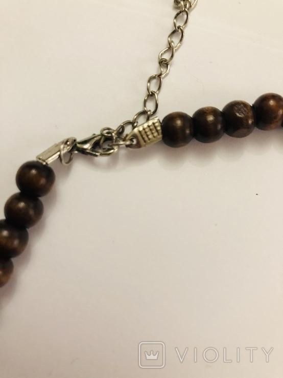 Ожерелье бусы намисто дерево и кость, фото №5