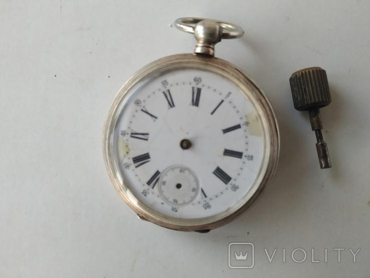 Карманные часы Cylindre серебро, фото №2
