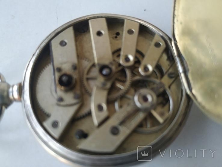 Карманные часы Cylindre серебро, фото №8