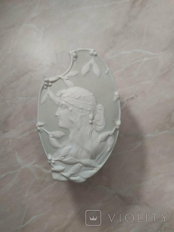 Шкатулка фарфоровая (бисквит) Вербилки, фото №2