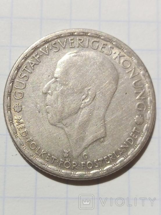 1 крона 1943 Швеція срібло, фото №4