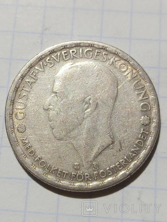 1 крона 1946 Швеція срібло, фото №4