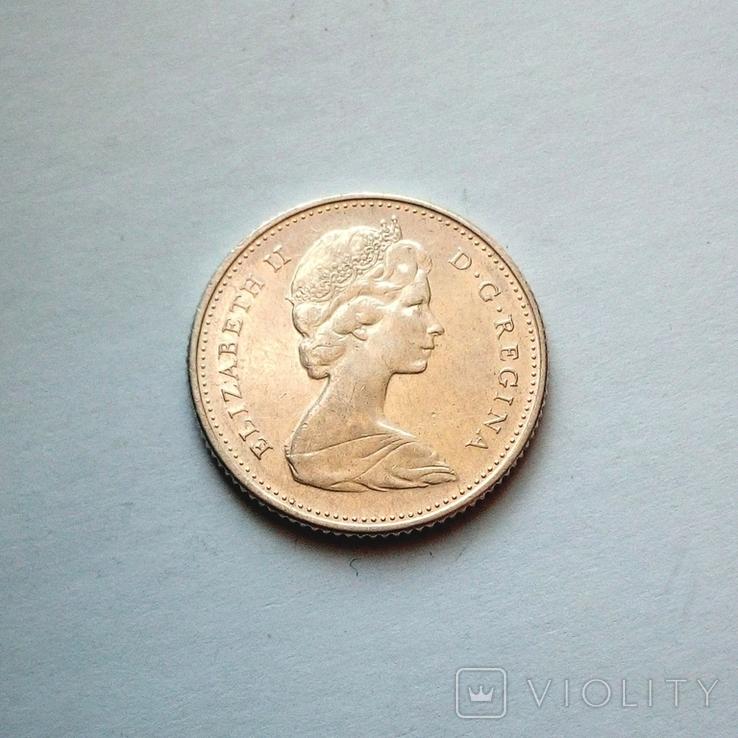 Канада 10 центов 1968 г., фото №2