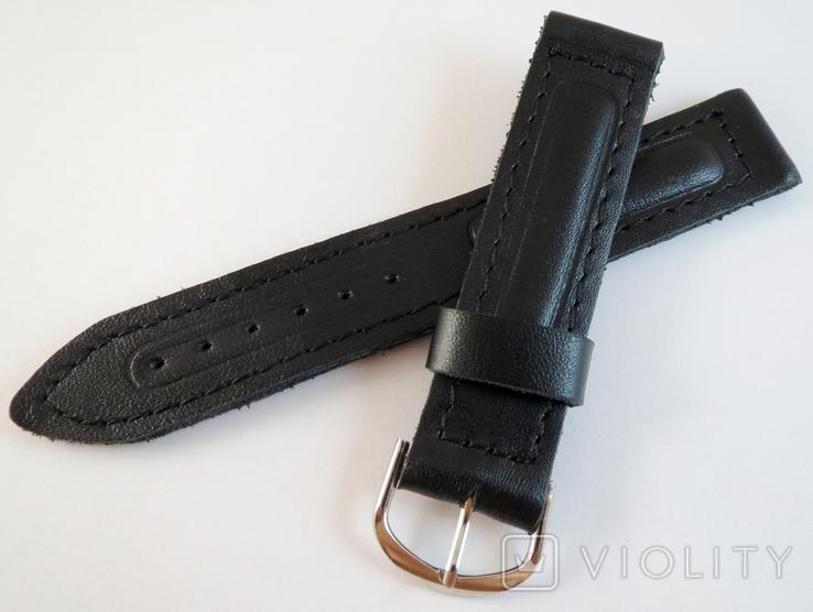 Новые Ремешки на 18 мм. Кожа. 10 штук. Черный цвет, фото №3
